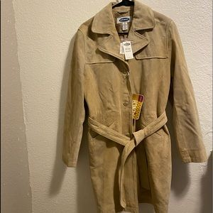 NWT Old Navy Leather Trench Coat